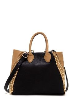 Studded Colorblock Tote