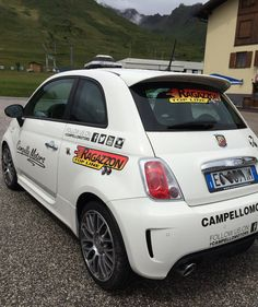 Abarth 500 with Ragazzon Exhaust System via Campello Motors. #abarth #tuning #ragazzonexhaust #campellomotors @abarthuk @teamabarth