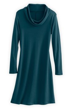 Fair Indigo Organic Fair Trade Cowl Neck Dress - Dresses - Women