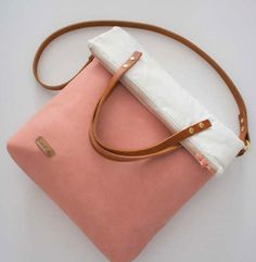 Stylishe Fold-Over-Tasche nähen - Schnittmuster und Nähanleitung via Makerist.de
