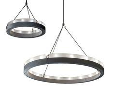 Lámpara colgante de vidrio esmerilado CIRCULAR GLASS by Martinelli Luce diseño Camillo Pediconi, Emiliana Martinelli