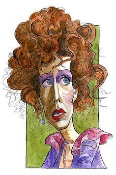 Carol Burnett Fan Art: Carol Burnett as Miss Hannigan Funny Caricatures, Celebrity Caricatures, Celebrity Drawings, Horse Drawings, Art Drawings, Drawing Art, Pencil Drawings, Miss Hannigan, Drawing Techniques Pencil
