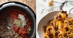 Slow-cook this Bolognese sauce and serve it over pasta or zoodles. | 17 Yummy Batch-Cooking Meals That Will Get You Through The Week