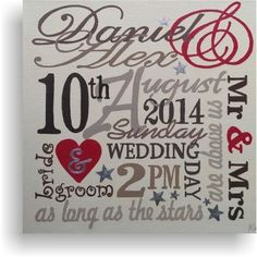 Wedding Day canvas - neutrals