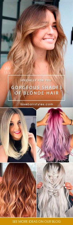 Trendy Hair Color Picture DescriptionUse our color guide to see which shade of blonde hair is best for your complexion. Going blonde but not sure what shade will look best with your skin tone? Hair Color Names, Skin Color Chart, Skin Color Tattoos, Hair Color Guide, Hair Color Pictures, Beautiful Blonde Hair, Blonde Hair Shades, Light Hair, Healthy Skin
