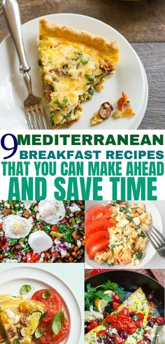 Mediterranean diet breakfast recipes that you need to try! These easy Mediterranean recipes taste delicious, and will save you time! breakfast 9 Mediterranean Diet Breakfast Recipes: Make-Ahead Friendly - Balancing Bucks Mediterranean Diet Breakfast, Easy Mediterranean Diet Recipes, Mediterranean Dishes, Whole Foods, Whole Food Recipes, Healthy Recipes, Delicious Recipes, Medeteranian Recipes, Budget Recipes