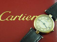 Must De Cartier Vermeil Quartz Ladies Watch - Pawnbank Sale Items, Jewellery, Watches, Leather, Photography, Accessories, Fashion, Moda, Jewels