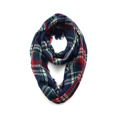 Wool Infinity Scarf - Navy - THE LUCKY KNOT ($35) via Polyvore
