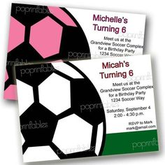 Boy or Girl Soccer Themed Party Invitation  by PopPrintables, $12.00