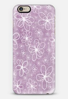 Doodle Flowers Pink iPhone 6 case Check out my new @Casetify   Make yours and get $10 off your first order using code: ZN4AQG  #casetify #case #iphonecase #phonecover #discount #offer #discountcode #pink #pattern #flowers #doodle #white