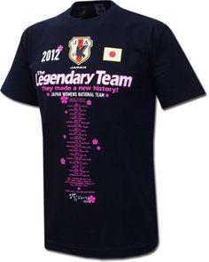 なでしこジャパン 『 The Legendary Team 』 記念Tシャツ