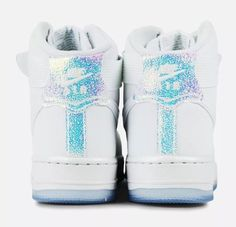 30b5f3b2f6c6 654440-105 Nike WOMEN Air Force 1 High Premium White White Ice size 8.5