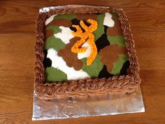 Camo cake inside and out