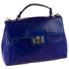 \Gorgeous Colored Blue Top Handle Purse- #myessentialmywalit