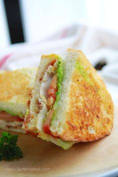 California Club Grilled Cheese Sandwich! This is a delicious, quick and easy lunch idea!