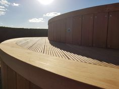 At London Decking Company we create beautiful timber and composite decking areas throughout the London,UK, using the best materials and experienced staff. Hardwood Decking, Decking Area, Composite Decking, Surrey, Outdoor Furniture, Outdoor Decor, Tub, London, Home Decor