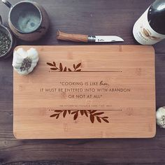 Personalized Cutting Board / Custom Butcher Block with Quote for Wedding Gift, Engagement Gift, or Mothers Day Gift, or Housewarming Gift – Wood Burning Pattern Custom Cutting Boards, Engraved Cutting Board, Diy Cutting Board, Personalized Cutting Board, Bamboo Cutting Board, Wood Burning Crafts, Wood Burning Patterns, Wood Burning Art, Wood Crafts