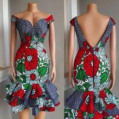 2019 African Fashion: Latest Ankara Gown Styles By Diyanu Latest Ankara Gown, Short African Dresses, Ankara Short Gown Styles, African Print Dresses, Short Gowns, Ankara Gowns, African Prints, African Fabric, African Fashion Ankara