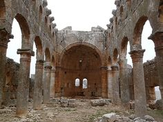 Dead Cities, Syria.  Was build around 100AC, more than 700 city in the North of Syria tell the story of the people lived there 2000 years ago. The ruins have churches and temples among them.