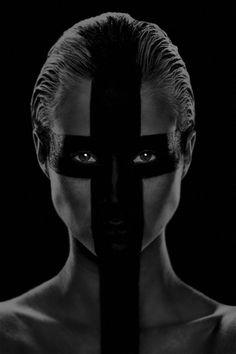 Painted Face - Black - Photography - Portrait - Black on Black