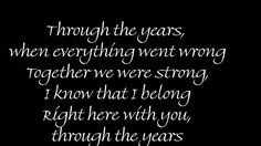 Through The Years by Kenny Rogers w / Lyrics-This was our 25th Anniversary song