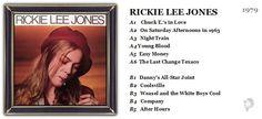 ♫ Rickie Lee Jones - Rickie Lee Jones (1979) - Album Art / photography Mike Salisbury & Norman Seef. https://www.selected4u.net/caa/rickieleejones/rickieleejones/play.html