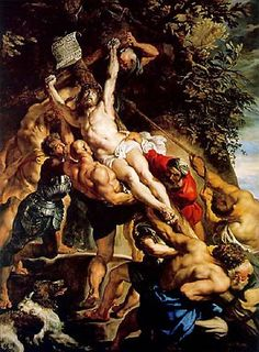 Raising of the Cross, by Peter Paul Rubens. Flemish Baroque painter, Inspired by Renaissance artists. Strong colors (inspired by Caravaggio). Painted Triptych originally for Church of St. Peter Paul Rubens, Baroque Painting, Baroque Art, Italian Baroque, Religious Paintings, Religious Art, Art Du Temps, Rubens Paintings, Pierre Paul