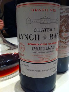 1995 Chateau Lynch-Bages - the palate was the highlight.... supple, ripe tannins.