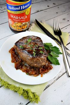 Filet Mignon with Marsala Caramelized Onions Recipe