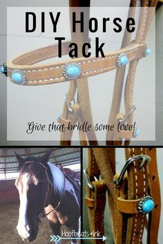 DIY Horse Tack - Decorate your horse's bridle. via Hoofbeats and Ink