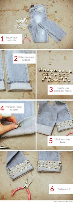 Aprenda uma técnica de customização com tachas e spikes e dê uma cara nova ao seu jeans da People's! http://www.peoplesjeans.com.br/blog/?id=95=Dica-de-customiza%C3%A7%C3%A3o:-jeans-com-tachas-e-spikes