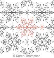 Digital Quilting Design Frozen Snowflake Panto by Karen Thompson.