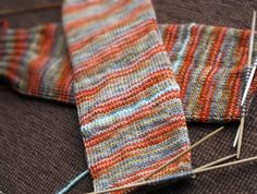 I love making socks this way... waste yarn in the heel spot.... knit them after the toe is finished... just like you make the toe!