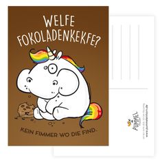 Pummeleinhorn Postkarte -