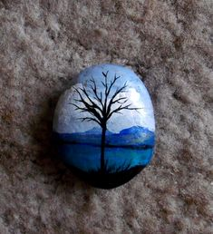 Miniature landscape, blue rock