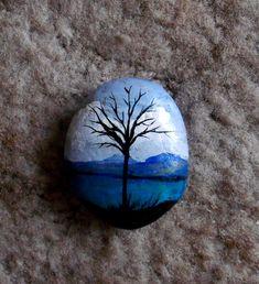 back of blue rock