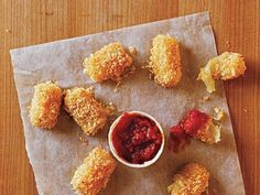 Baked Mozzarella Bites | Serve this quick after-school snack to your kids as an alternative to traditional fried cheesesticks.