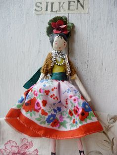 Fairy Silken made from papier mache and antique French linen filled with lavender. SOLD E128.00