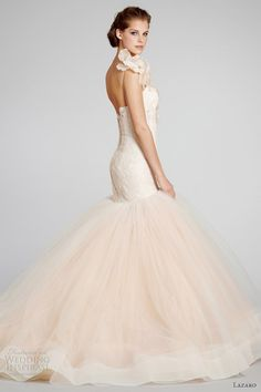 lazaro bridal fall 2012 blush mermaid