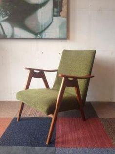 Vintage Fauteuil Deens Design Jaren 60 Retro Groen