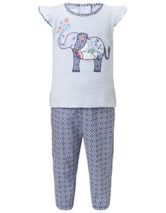 Baby Heritage Top And Trouser Set | White | Monsoon