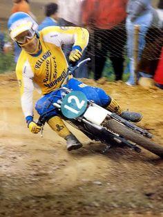 Hakan Carlqvist the beginning Mx Racing, Dirt Bike Racing, Off Road Racing, Enduro Vintage, Vintage Motocross, Vintage Bikes, 2 Stroke Dirt Bike, Old Scool, Motocross Riders