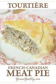 Tourtière: A French-Canadian Meat Pie Recipe Tourtière is a traditional French-Canadian meat pie enjoyed throughout Canada and New England. French Canadian Meat Pie Recipe, French Meat Pie, Canadian Food, Canadian Recipes, French Pork Pie Recipe, Canadian Dishes, Canadian Cuisine, Meat Recipes, Cooking Recipes