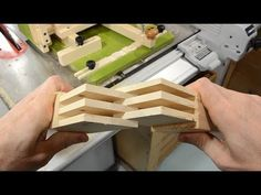 Multi-lap joints with the quick-set tenon jig Tenon Jig, Wood Creations, Woodworking, Make It Yourself, Fences, Upholstery, Workshop, Tools, Play