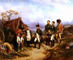 Napoleon et le Petit Messanger by Joseph Louis Hippolyte Bellange (1847).