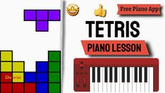Tetris Piano Lesson - Tetris Theme Piano Tutorial Easy Piano Songs, Free Piano, Piano Tutorial, Piano Lessons, My Face Book, Book Pages, App, Make It Yourself, Books