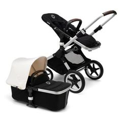New from Bugaboo! The ultimate stroller! Bugaboo Fox complete set in Fresh White with aluminum frame. Fashion Kids, Sun Canopy, Future Maman, Get Baby, Kids Seating, Rubber Tires, Prams, Baby Registry, New Moms