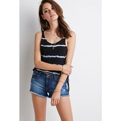 Forever 21 Low-Rise Denim Cutoffs ($20) ❤ liked on Polyvore