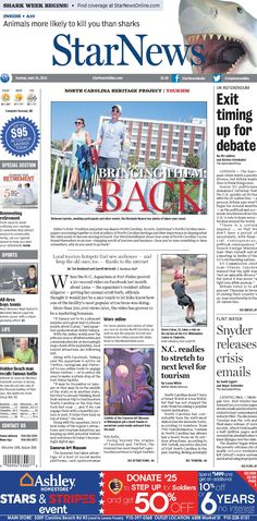 Front page for Sunday, June 26, 2016