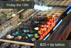 This coming April Friday the 13th We are doing our traditional $20 + tip tattoo and any single piercing for $25 ( exclusions apply ) you can bring your design, but it must fit in a circle the size of a half dollar. There are restrictions on placement on the body.  We will make appointments for groups.  So make plans to come see us.  #friday #fridaythe13th #tattoospecial #sale #sales #tattoos#girlswithtattoos #guyswithtattoos #tattoo #tattoos #inked #inkedgirls #getink #smalltattoo…